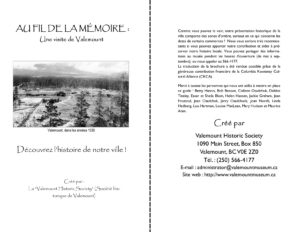 Au fil de la Mémoire: Un visite de Valemount